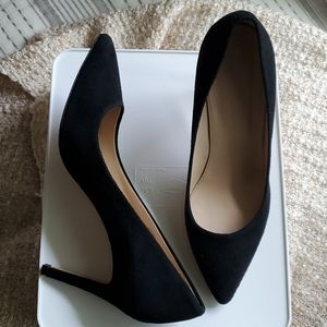 J. Crew suede black pumps